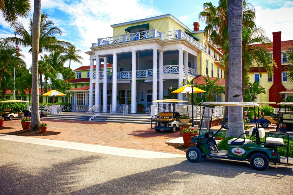 The Gasparilla Inn & Club, Boca Grande, on Gasparilla Island, Florida, USA