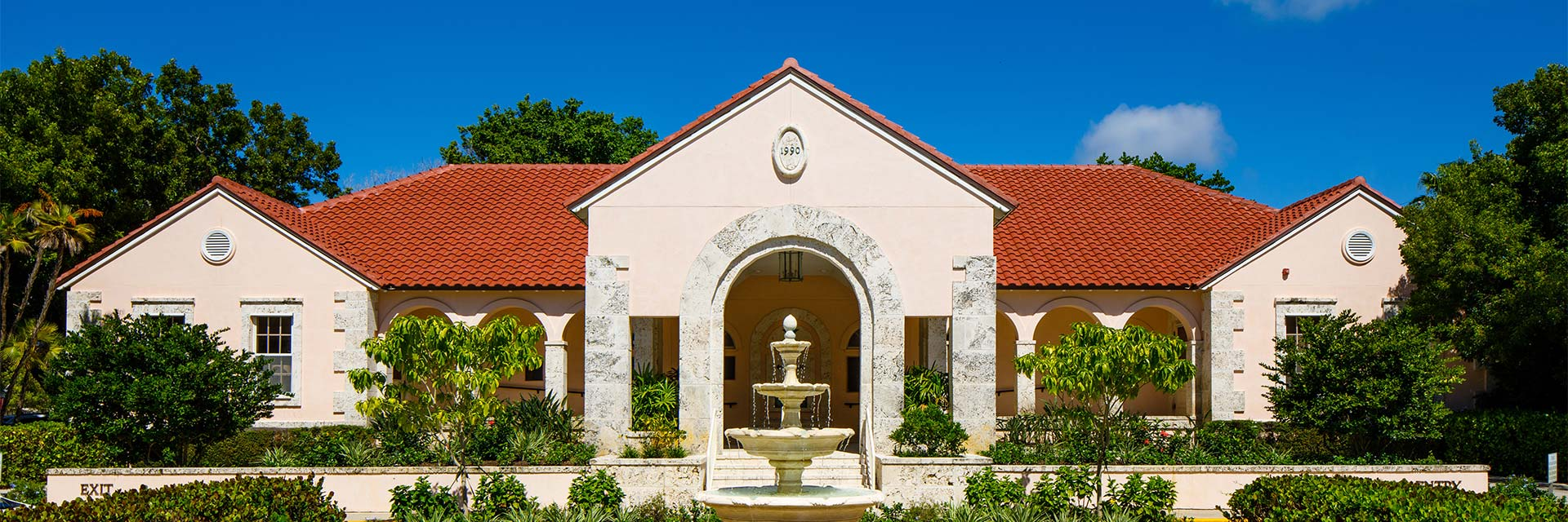 Boca Grande Health Clinic Building front with fountain
