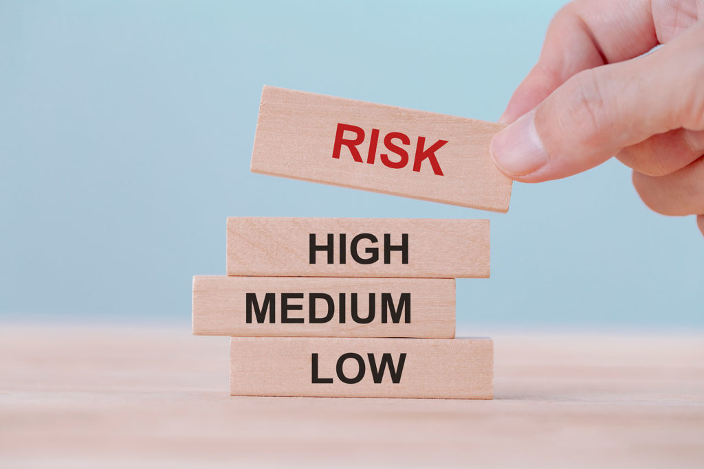 blocks reading risk - low medium and high
