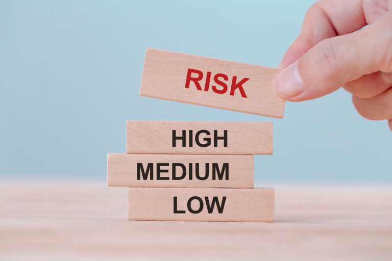 blocks reading risk - low medium and high