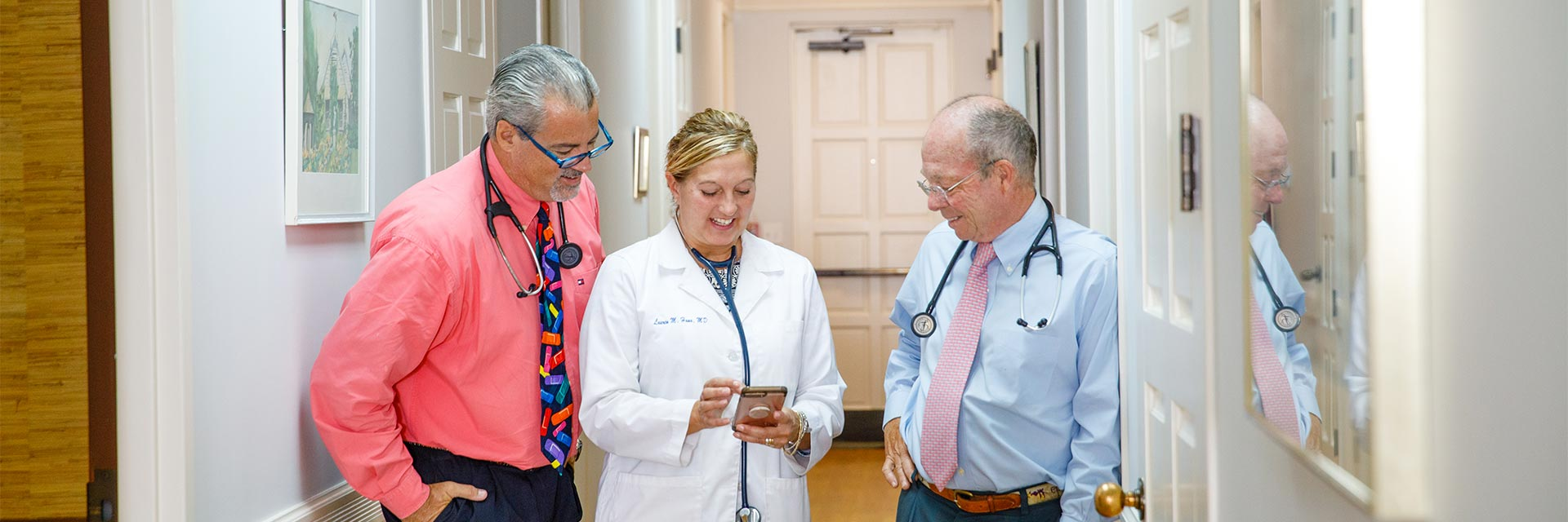 three doctors - Dr. James, Dr. Hana and Dr. Ervin