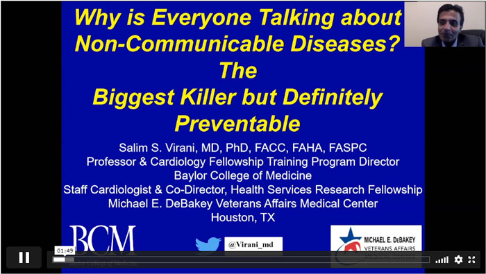 Video Player showing PowerPoint slide: Why is Everyone Talking about Non-Communicable Diseases? The Biggest Killer but Definitely Preventable