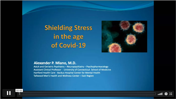 Video Player showing PowerPoint slide: Shielding Street in the age of Covid-19