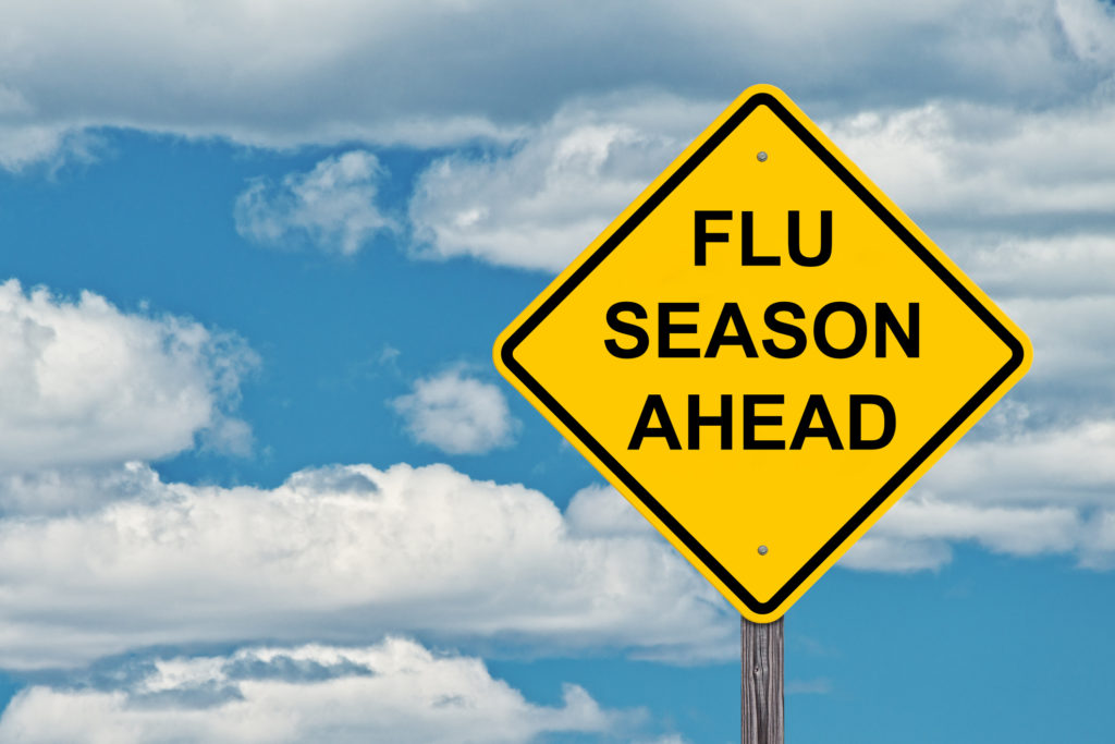 Flu Season Ahead Warning Sign